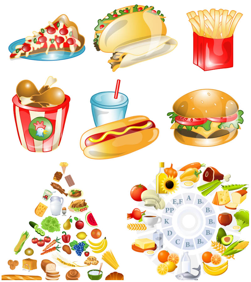 11 Healthy Food Vector Images