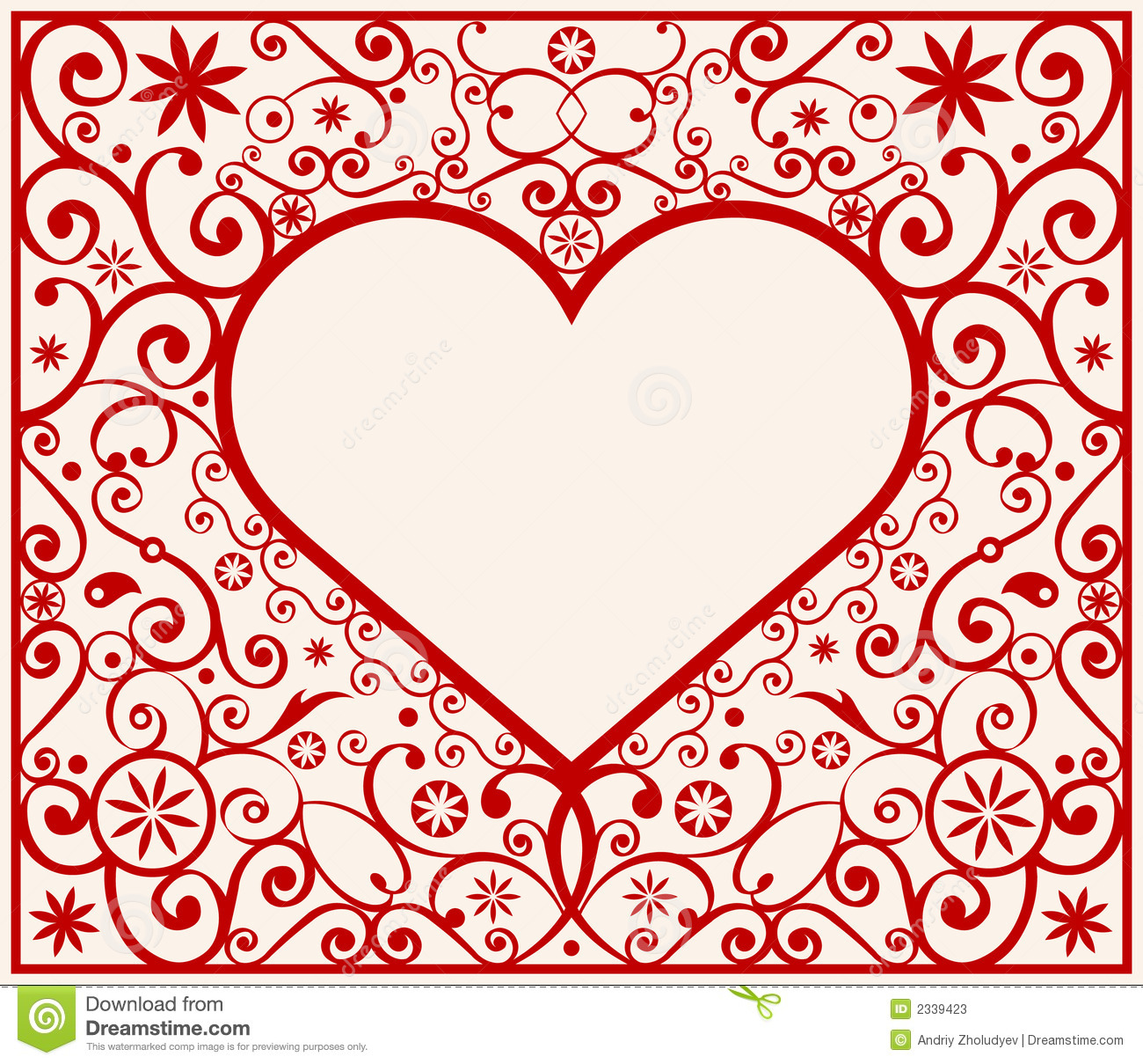 15 Vector Heart Border Images