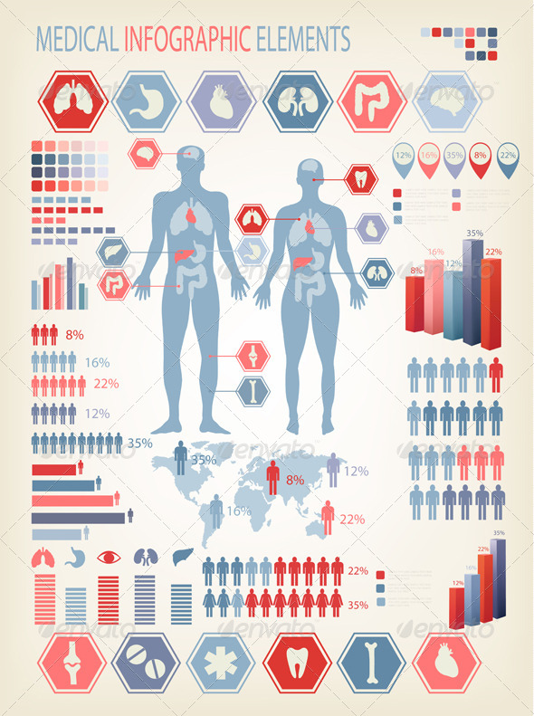 Human Infographic Elements