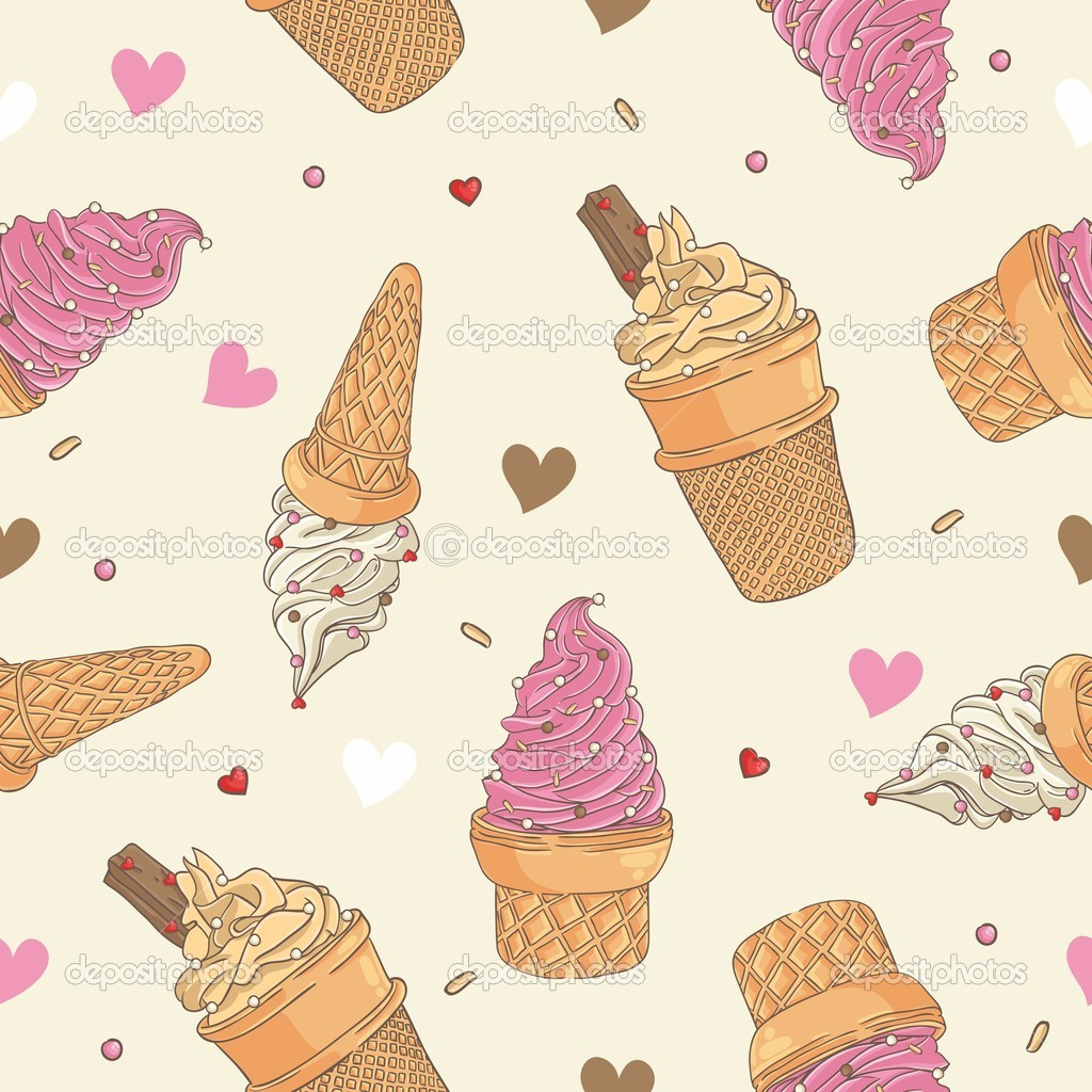 7 Ice Cream Pattern Vector Images