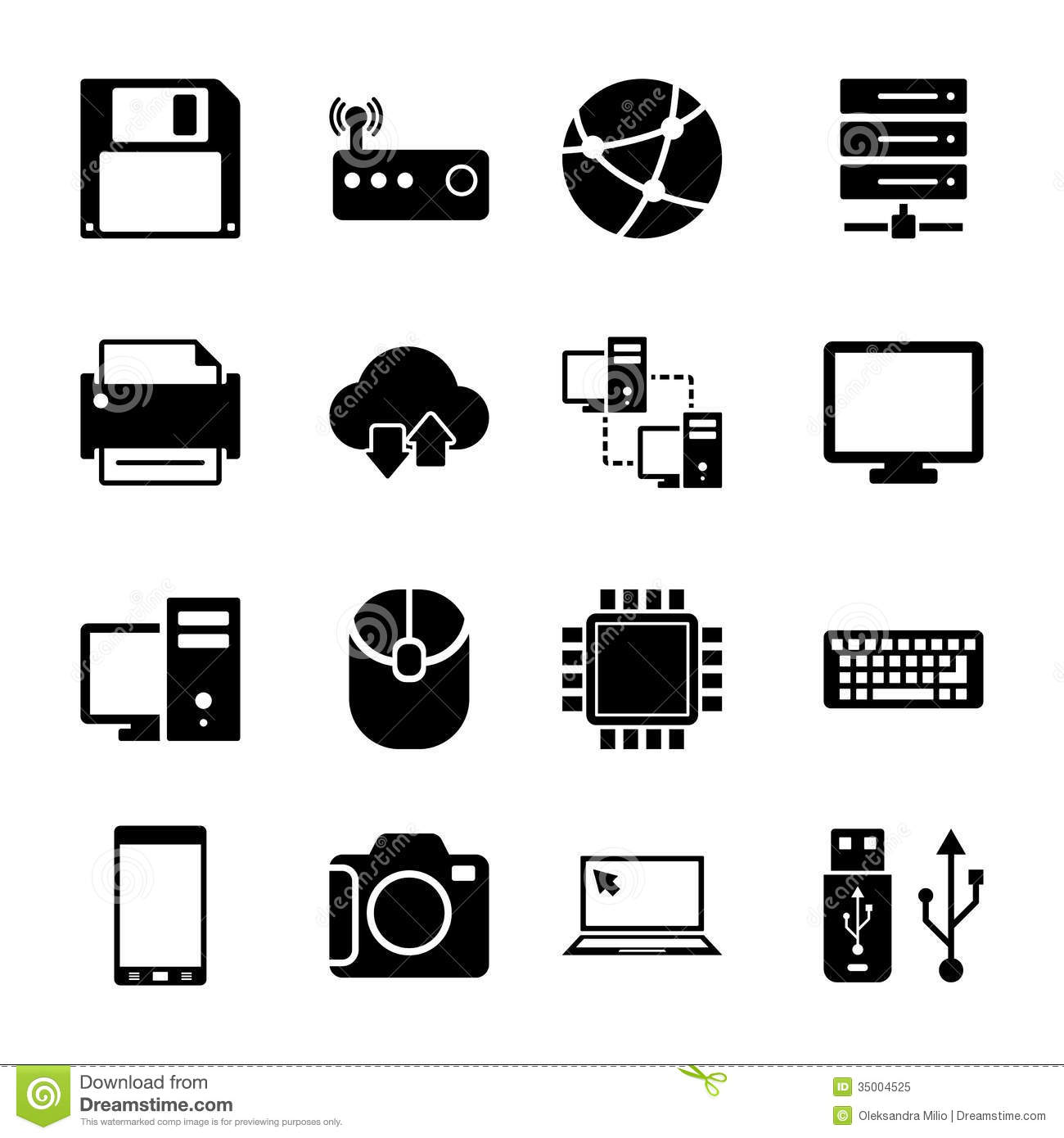 Information Technology Icon Set Free
