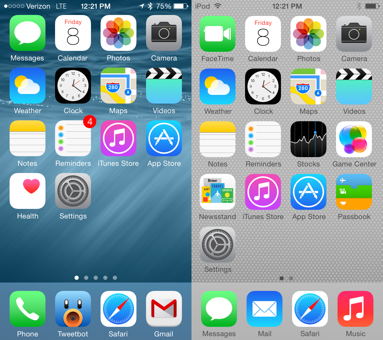 10 Home Screen Ios 8 Icons Images Iphone Ios 8 Home Screen Iphone Ios 8 Home Screen And Ipad
