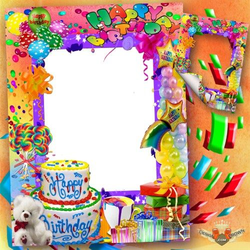 16 Happy Birthday Frames PSD Images