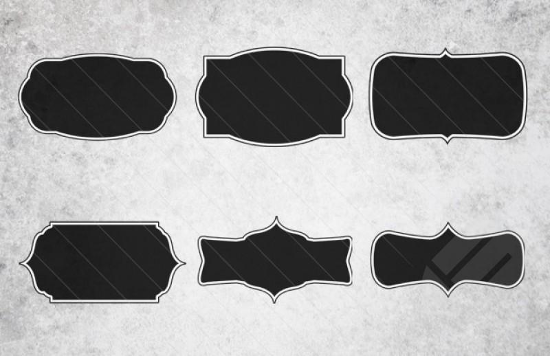 15 Shapes Vector Frame Images