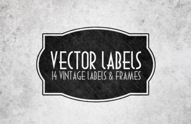 15 Individual Vector Label Shapes Images