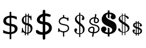 Line Border with Dollar Signs