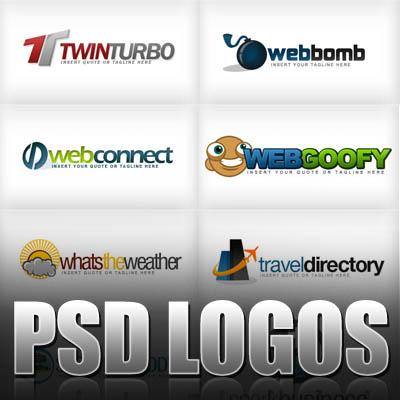 10 Blog Logo PSD Images