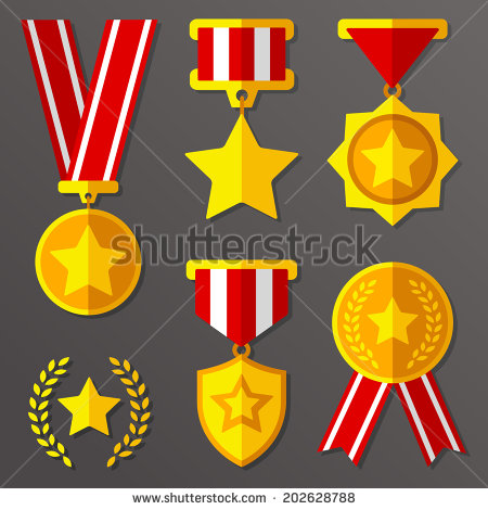 Medal Award Icon Vector