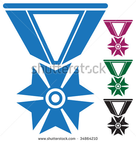 Military Medal Vector Icon