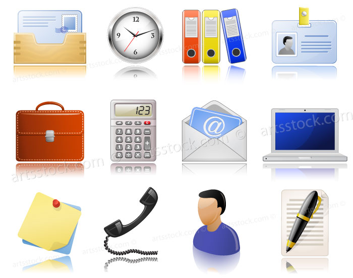 12 Office Vector Icon Images