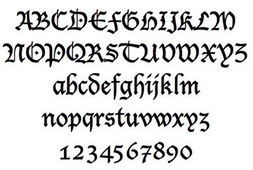 7 Old School Cursive Fonts Images