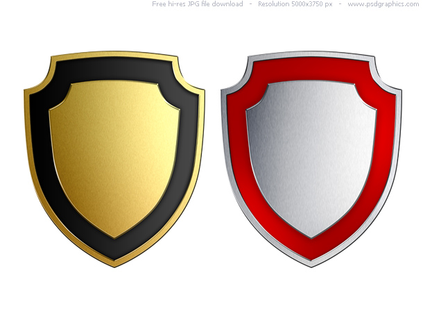 12 Shield Logo Photoshop PSD Templates Free Images