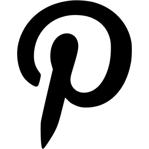 9 Black And White Pinterest Icon Images