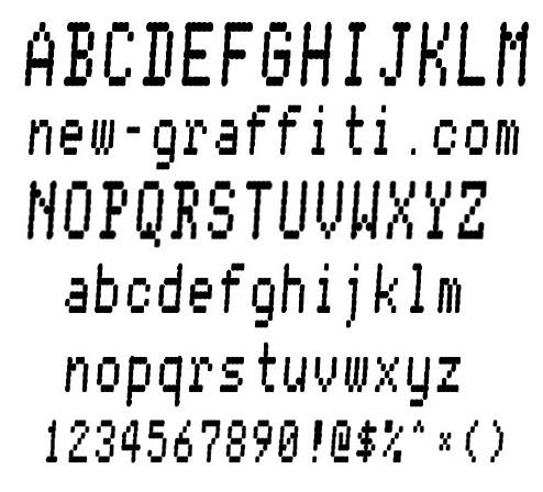 Pixel Letter Font