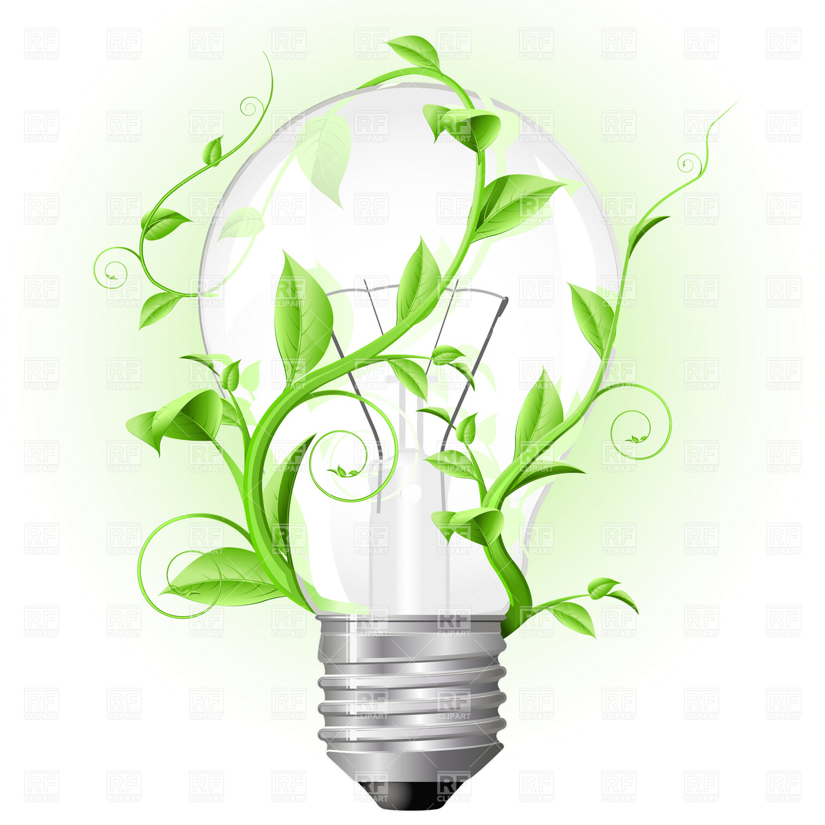 Plant Light Bulb Clip Art