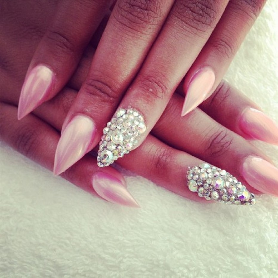 13 Short Pointy Nail Designs Images