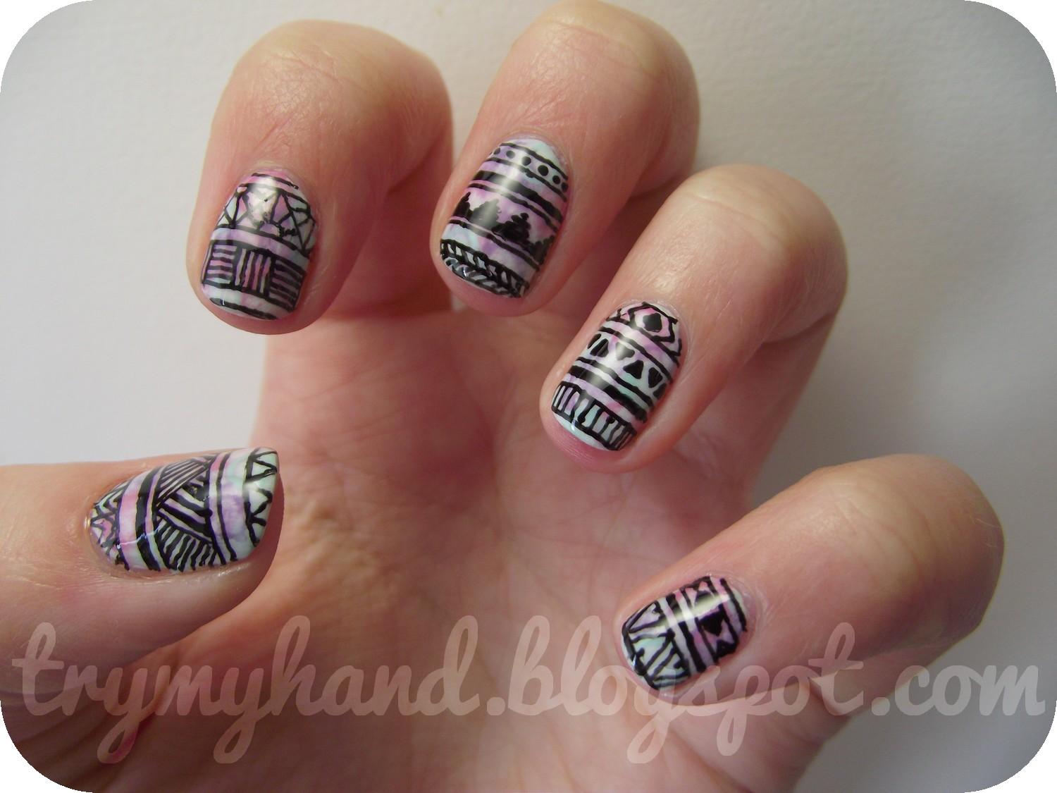 Pointy Nail Art Design