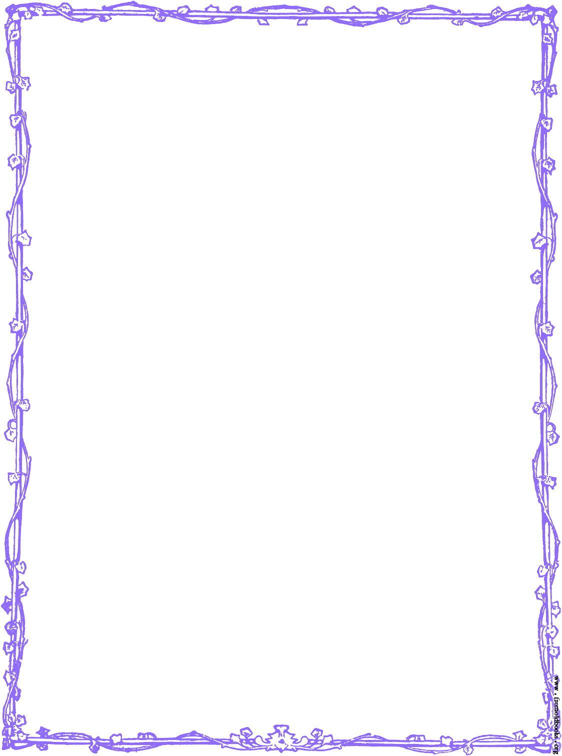 Purple Border Design Clip Art