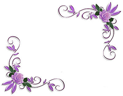 11 Purple Corner Border Designs Images