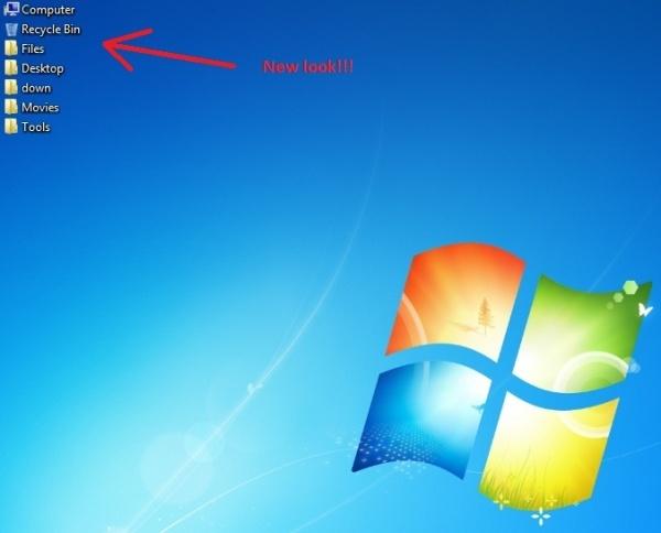 Resize Desktop Icons for Windows 7