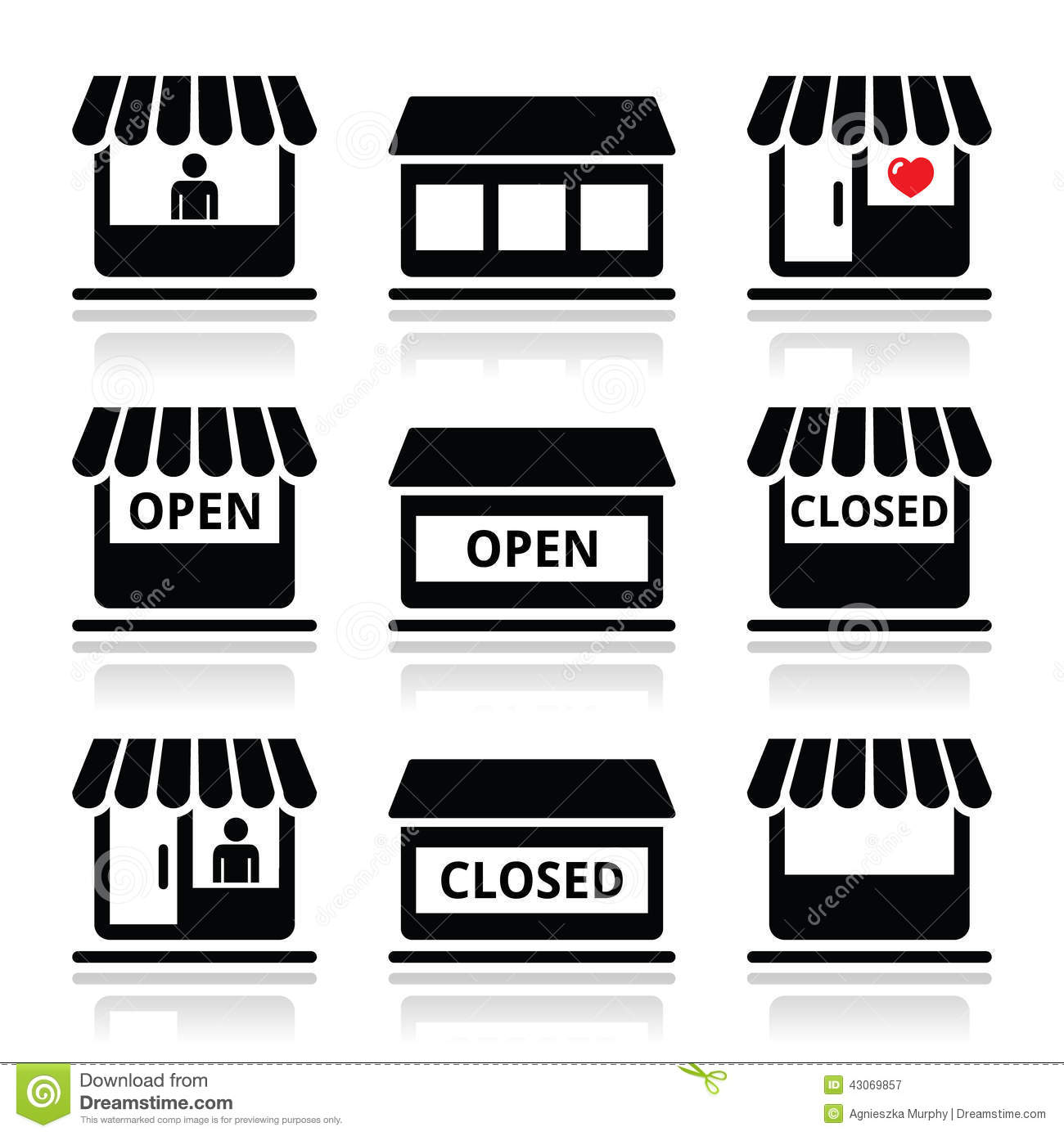 11 Store Icon Black And White Images
