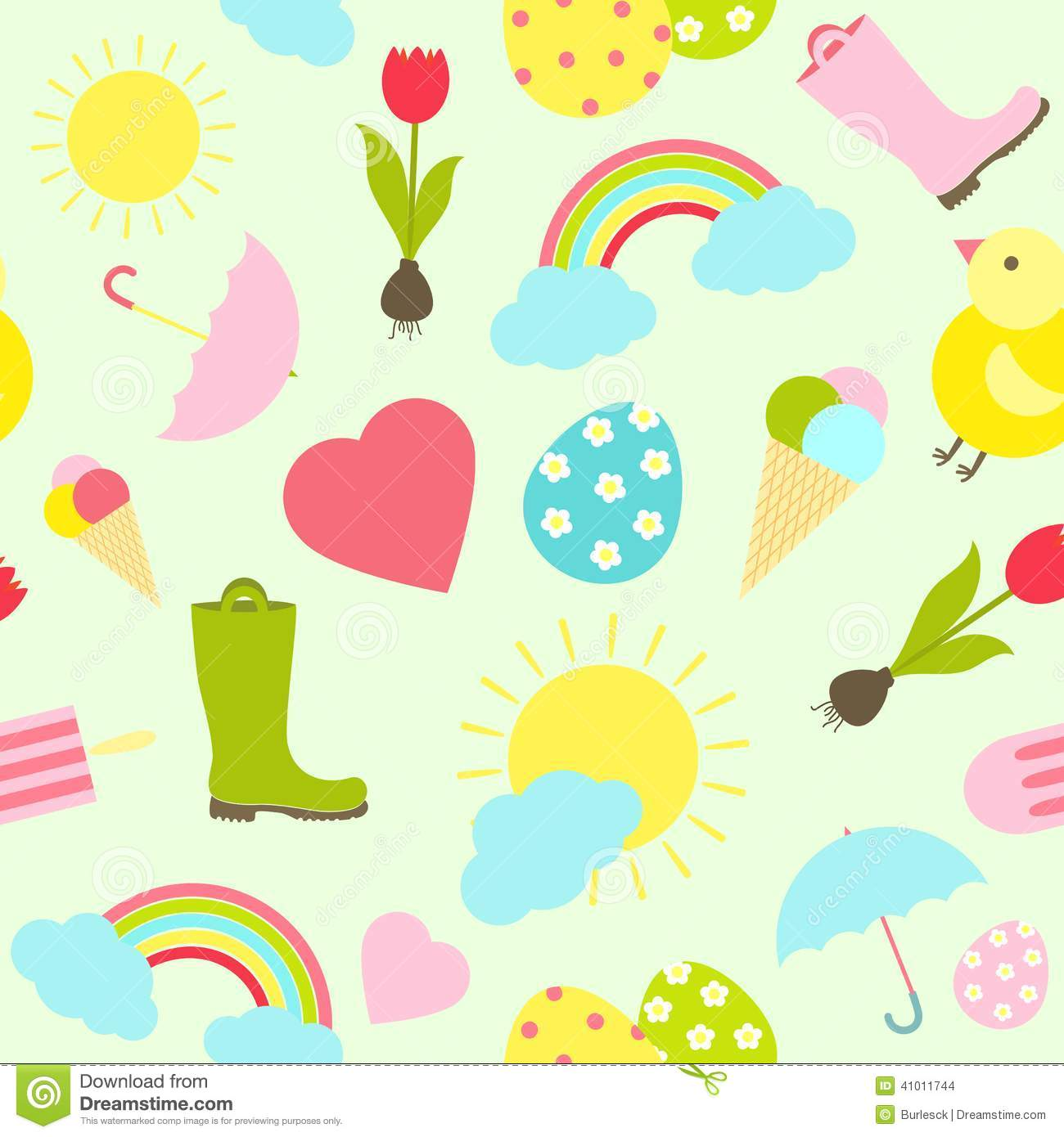 Seamless Colorful Background Spring