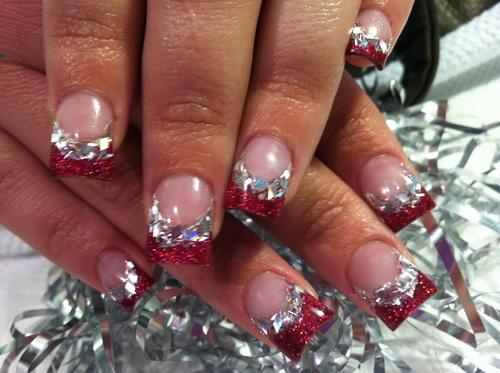 Новогодние ногти красивые фото