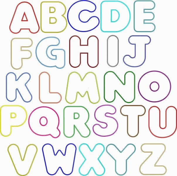 Bubble Writing Alphabet Template