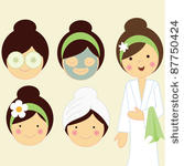 12 Spa Girl Vector Images