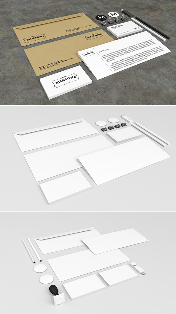 10 Free Stationery Mockup PSD Images