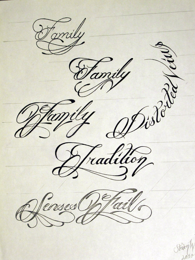 10 Filigree Script Font Images