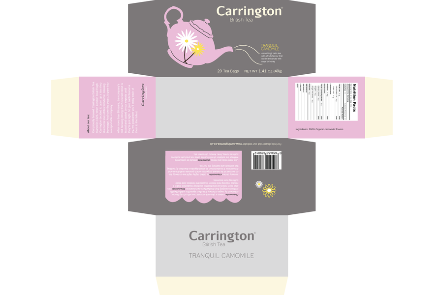 Template for Tea Packaging Box Design