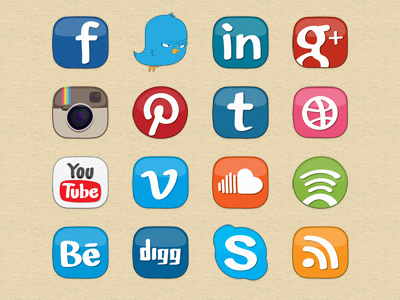 16 2014 Top Social Media Icons Images