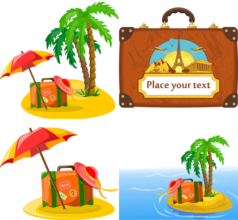 Travel Summer Vacation Clip Art Free