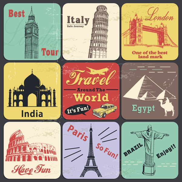 Travel Vintage Vector
