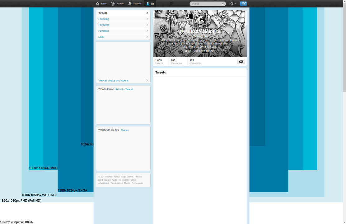 14 Twitter Background Template PSD Images