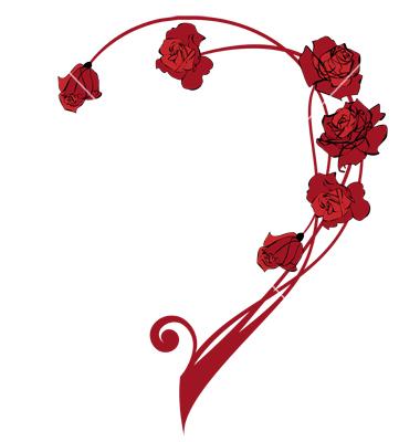 Valentine Border with Rose