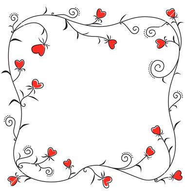 Valentine's Day Heart Border