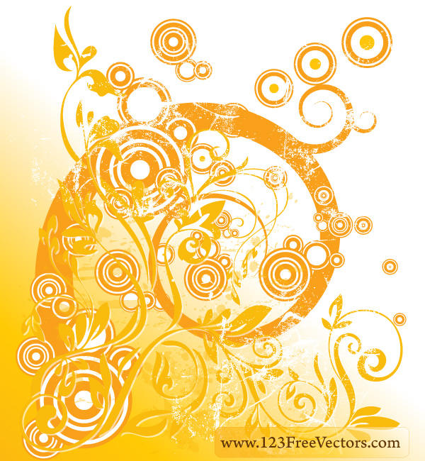Vector Floral Swirl Design