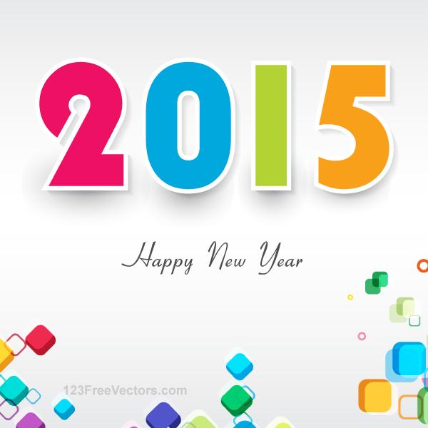 Vector Happy New Year 2015