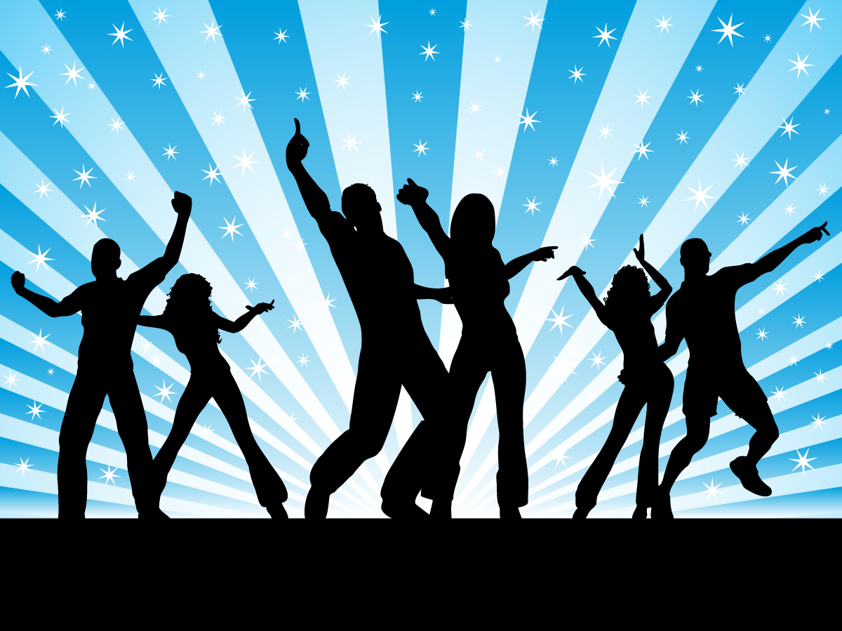 12 Dancing People Silhouette Vector Free Images