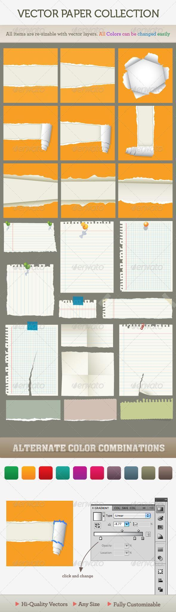 11 Torn Notebook Paper PSD Images