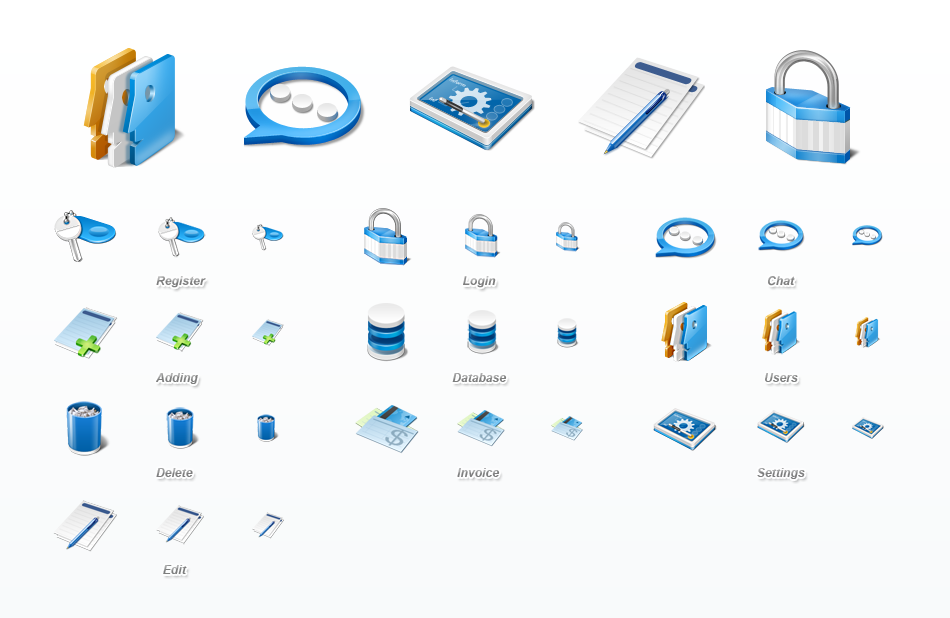 11 Application Icon Set Images