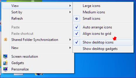 Windows 8 Hide Desktop Icons