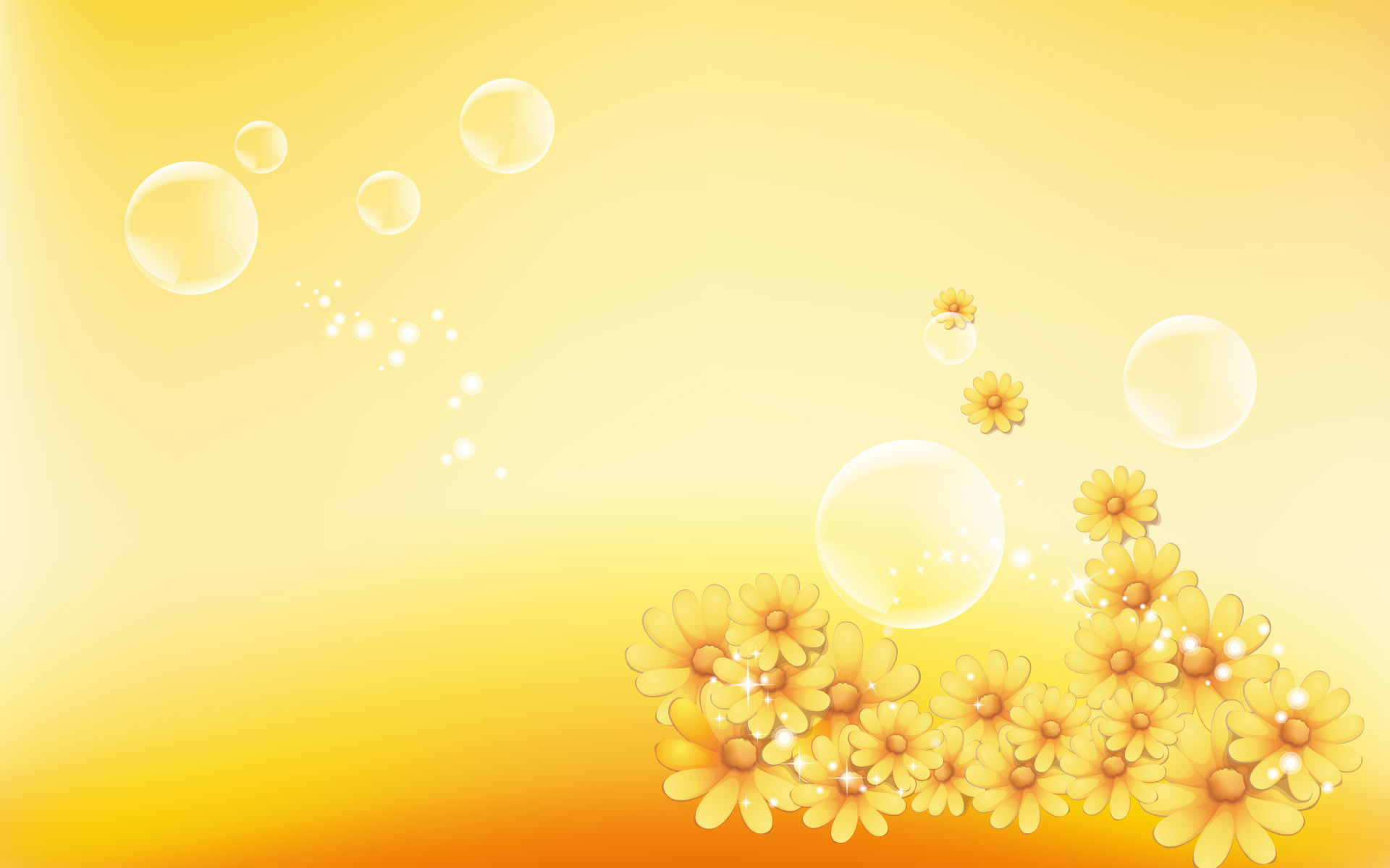Yellow Flower Graphic Floral Design
