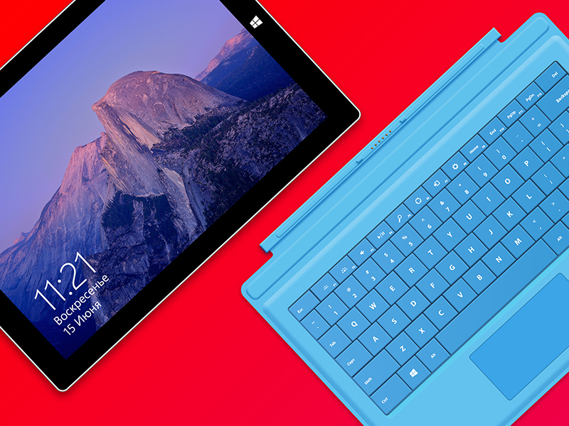 3 Surface Pro Keyboard Template