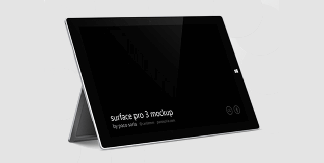 3 Surface Pro Mockup