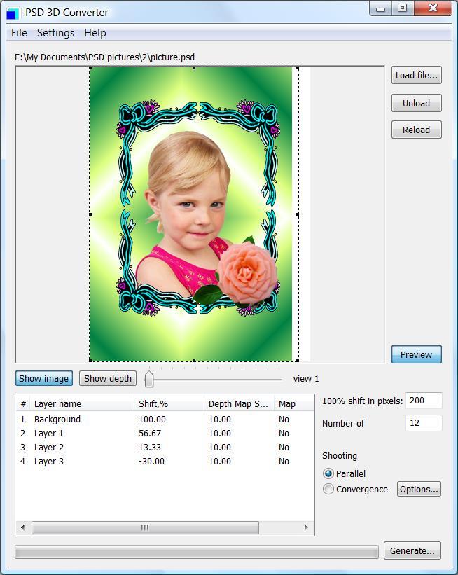 3D Frames Psd