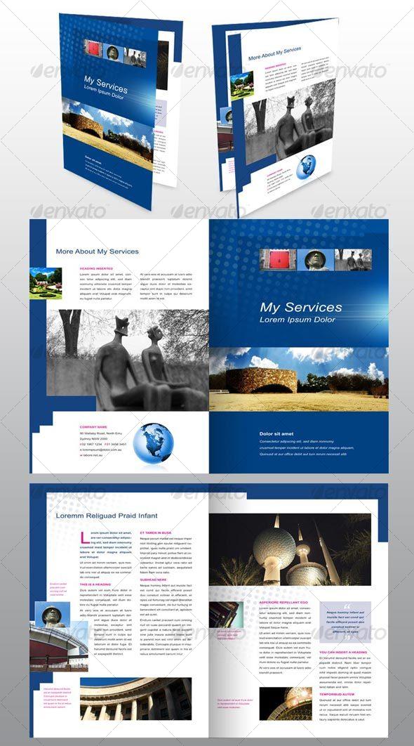 4 Page Brochure Design Template