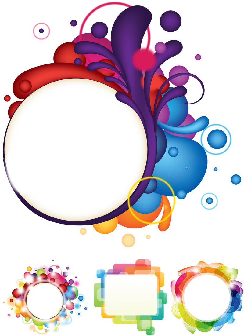 11 Abstract Vector Circle PSD Images